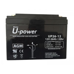 BATERIA AGM U-POWER 26AH 12V