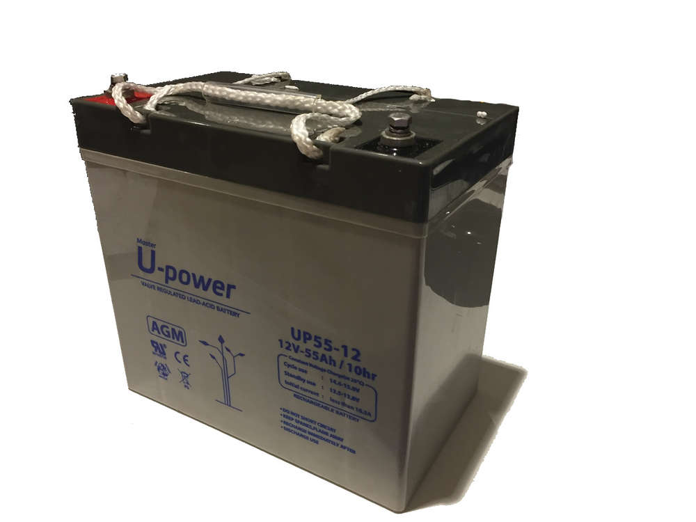BATERIA AGM U-POWER 55AH 12V